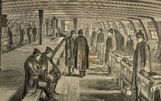 Inside a hospital ship, 1862