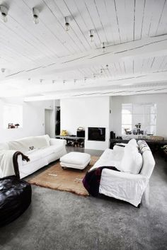 A beautiful converted barn. All white all the time
