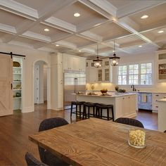 White Coffered Ceiling Design, Pictures, Remodel, Decor and Ideas