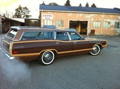 Early 70s Ford Country Squire.