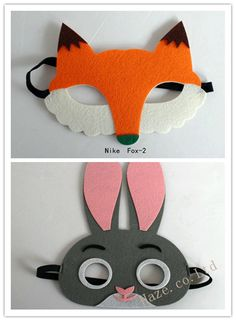 Halloween Zootopia Rabbit Judy Hopps Fox Nick Wilde Mask for Children in Clothing, Shoes, Accessories, Costumes, Accessories | eBay