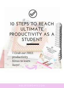 Are you struggling to reach ultimate productivity as a student? If so, the tips shared in this post are exactly what you need!