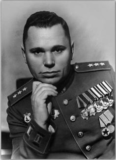Colonel-General of Aviation Rybalchenko Stepan Dmitrievich (1903-1986), Soviet military leader, a participant of the Great Patriotic war (WWII in Russia). The commander of the Leningrad Front`s Air Force (1942) and the 13th Air Army (1942-1945).