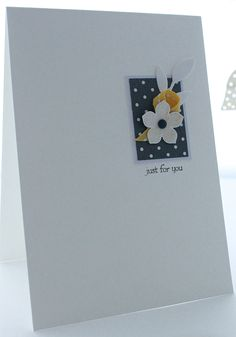 Petite Petals, Little Leaves, card made from scraps!
