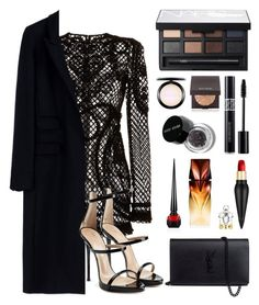 """Sem título #245"" by justfash ❤ liked on Polyvore featuring Dolce&Gabbana, Thierry Mugler, Giuseppe Zanotti, NARS Cosmetics, Christian Dior, MAC Cosmetics, Laura Mercier, Bobbi Brown Cosmetics, Christian Louboutin and Yves Saint Laurent"