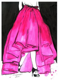 Wu Does Pink, #watercolor by Jessica Durrant