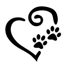 Dogs leave paw prints on our hearts. Paw Print Image, Paw Print Art, Paw Prints, Dog Silhouette, Silhouette Projects, Craigslist Pets, Dog Tattoos, Ankle Tattoos, Arrow Tattoos
