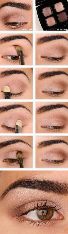 16 Easy Step-by-Step Eyeshadow Tutorials for Beginners: #15. Easy Everyday Natural Makeup Tutorial #eyeshadowsforbeginners #eyeshadowsnatural