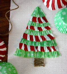 Cupcake Liner Christmas Tree Tutorial
