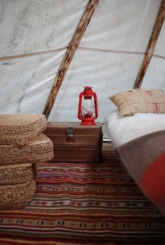 We will get a bell tent at some point, and fill it with Berber rugs!