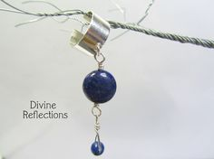 Lapis and Sterling Silver Earcuff by DivineReflections