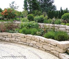 Anything is possible with dry stone. In this case, a contrasting plant bed made of Jura ashlar. Plants, Stone Walls Garden, Landscape Design, Outdoor Gardens, Dry Stone, Creative Gardening, Landscape, Backyard, Landscaping A Slope