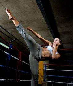 Love doing kicks like this in TWD class