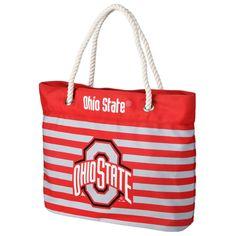 a6b005bd07 Ohio State Buckeyes Women s Nautical Stripe Tote Bag Striped Tote Bags