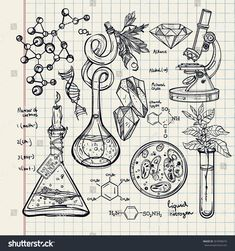 stock-vector-hand-drawn-science-beautiful-vintage-lab-icons-sketch-set-vector-illustration-back-to-school-267699674.jpg 1.500×1.600 píxeles