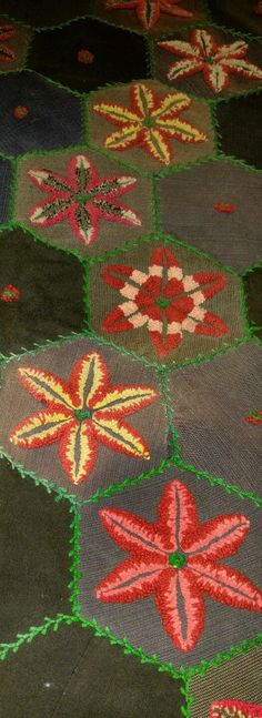 STUMPWORK star quilt, antique, Hand- worked in Collectibles, Linens & Textiles (1930-Now), Quilts   eBay