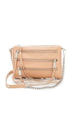 Rebecca Minkoff Mini 5 Zip Smooth Leather, Rebecca Minkoff, Zip, Purses, Chain, Metal, My Style, Bags, Handbags