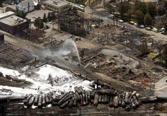 The train derailment in Quebec has a death toll of 13 that is expected to rise as they search the wreckage.