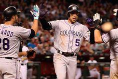 Carlos González despertó con 2 vuelacercas en victoria de Colorados #Beisbol #Deportes