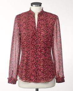 Fuchsia delight blouse - [K15869]