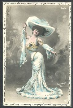 QA052-ARTIST-STAGE-STAR-MARVILLE-VERY-Large-HAT-Tinted-PHOTO-pc-Paul-DARBY-1905