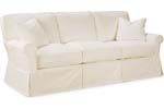C3293-11 SLIPCOVERED APARTMENT SOFA OVERALL   W79 D37 H35 INSIDE   W64 D23 H18