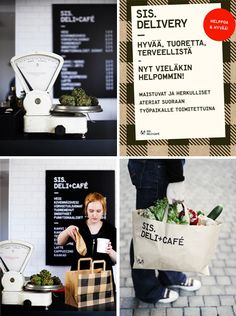 The whole brand, well thought out. sis+deli cafe in Finland
