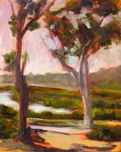 Lagoon, Carlsbad, 10x8, oil on panel, original oil painting by Mandy Main
