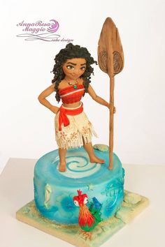 Anna Rosa Maggio Moana Themed Party, Moana Birthday Party, Moana Party, Mohana Cake, Cake Design Inspiration, Work Inspiration, Bolo Moana, Movie Cakes, Girly Cakes