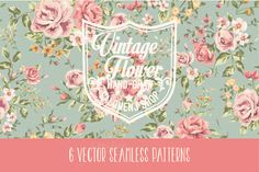 Check out Vintage seamless patterns Vol.1 by Graphic Box on Creative Market