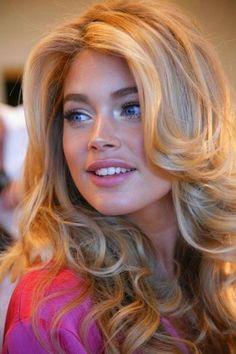 Blonde curls.