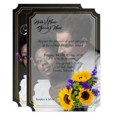 Spring Wild Flowers Wedding Invite w/ Photo 2 - spring wedding diy marriage customize personalize couple idea individuel