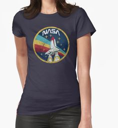 """""""Nasa Vintage Colors V01"""" Womens Fitted T-Shirts by Lidra 