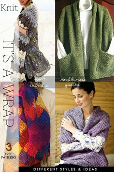 It's a Wrap - This versatile garment is the right solution for the coming season - Ideal beginners' project - free patterns by DiaryofaCreativeFanatic
