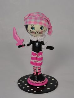 Pirate Kitty Cat Cake Topper by lallygag on Etsy, $40.00