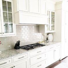 Grey Backsplash Tile. Grey Backsplash Tile In Creamy White Kitchen. Greyu2026