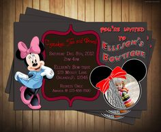 Disney's Minnie Mouse Boutique Birthday Party Invitation