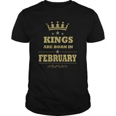 Kings Are Born in February Shirts Birth Month T-shirt – Kings born in Feb