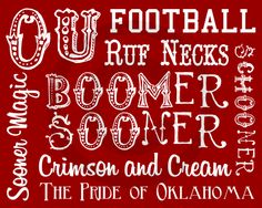 Great win boys!! OU Football Subway Print #Freebie #OU #Sooners #Football