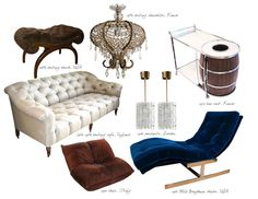 the blue chaise lounge!