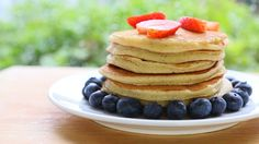 Yogurt Almond Pancakes recipe