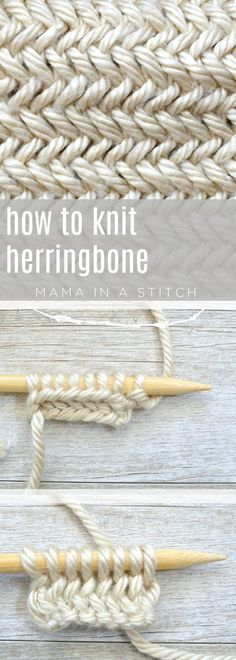 How to Knit Herringbone Stitch Free Knitting Tutorial - New Craft Works Basic Knitting for Beginners Knitting Stitches, Knitting Patterns Free, Knit Patterns, Free Knitting, Knitting Tutorials, Knitting Ideas, Sock Knitting, Knitting Machine, Vintage Knitting