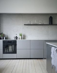 Minimal grey kitchen