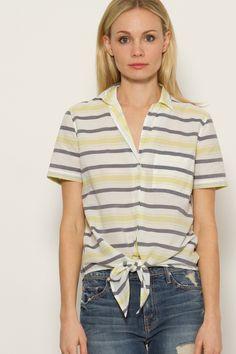 Equipment Keira Tie Front Shirt