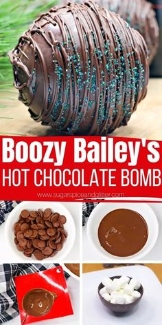 Spiked Hot Chocolate, Hot Chocolate Gifts, Christmas Hot Chocolate, Homemade Hot Chocolate, Hot Chocolate Bars, Hot Chocolate Recipes, Chocolate Coffee, Chocolate Cups, Chocolate Flavors