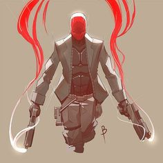 red hood fanart sketch by blackstyluss Red Hood Comic, Batman Red Hood, Comic Books Art, Comic Art, Comic Character, Character Design, Red Hood Jason Todd, Dc Comics Superheroes, Fanart