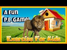 Lion on the Loose! - An Interactive Exercise BRAIN BREAK for Kids | P.E.... Motor Skills Activities, Classroom Activities, Yoga For Kids, Exercise For Kids, Health And Physical Education, Music Education, Lion Games, Kindergarten Songs, Pe Ideas