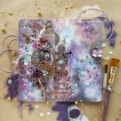 WOW! Embossing Powder Blog: Galaxy mixed media canvas