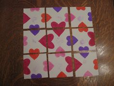 Heart Puzzle. Great idea for Minute to Win It!