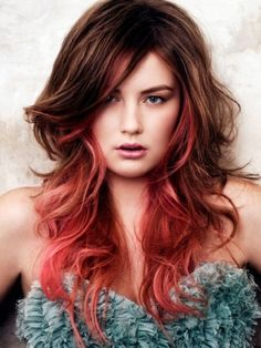 Red highlights in brown hair tumblr - Brown Hair : Fashion Styles ...